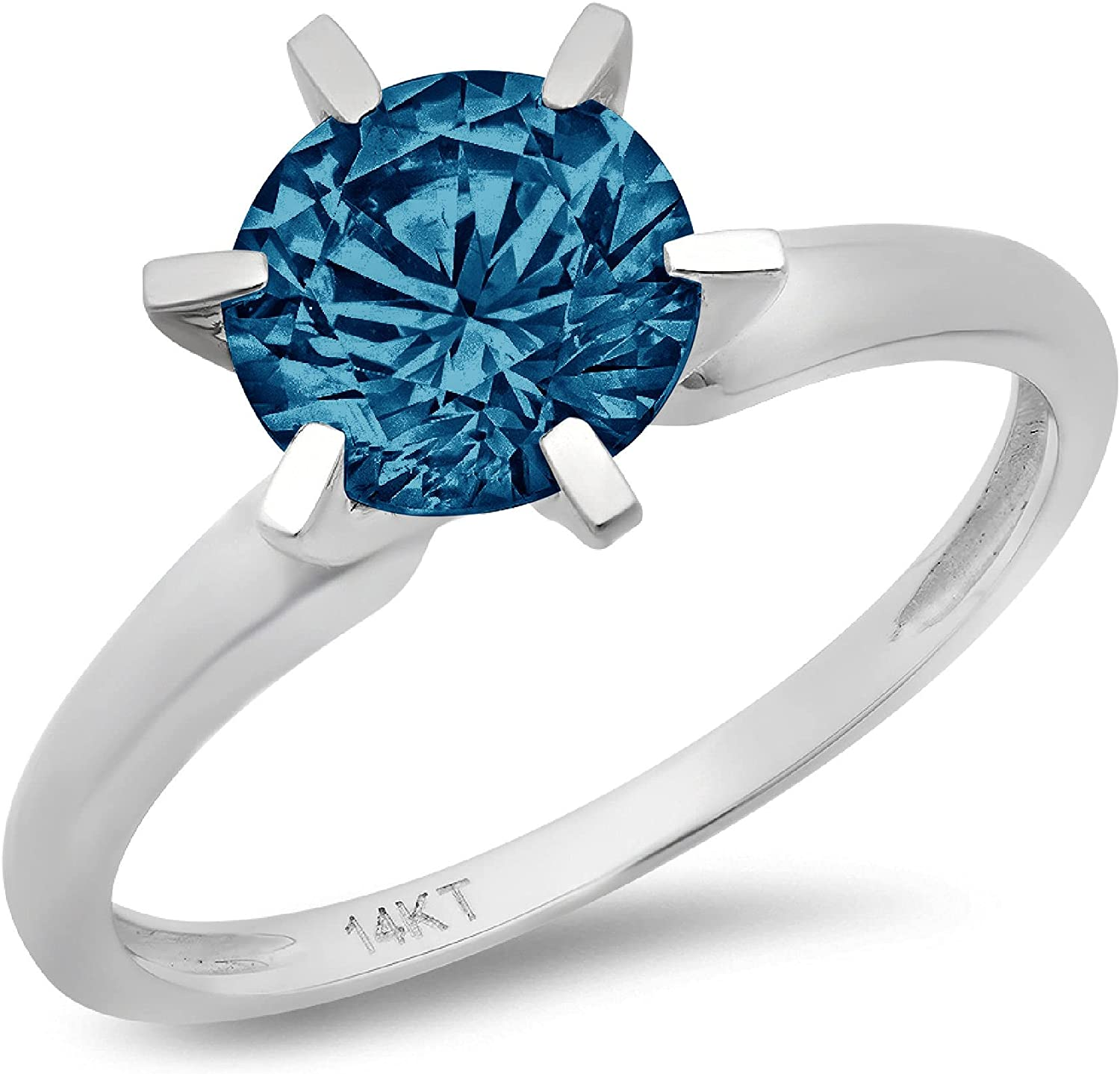 1.6 ct Indefinitely Brilliant Round Columbus Mall Cut Solitaire London Bl Stunning Flawless
