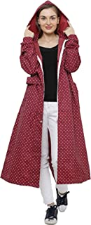 ZEEL Ladies Polka dots Raincoat | Tapping Long Raincoat with Waterproof Carrying Pouch | AZ11