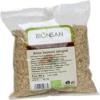 Bionsan Arroz Basmati Integral Ecológico - 6 Bolsas de 500 g - Total: 3 kg