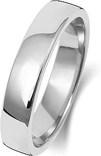 Anello Fede Nuziale Uomo/Donna 4mm in Oro bianco 9k (375) WJS189509KW