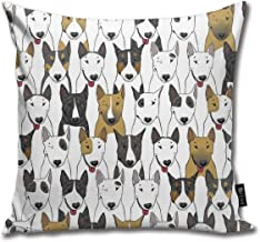 Unique Bull Terrier Dog Animals Pillow Case Throw Pillow Cover Square Cushion Cover 18X18 Inch