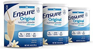Ensure Original Nutrition Powder with 9 grams of protein, Meal Replacement, Vanilla, 14 oz, 3 count