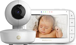 Motorola MBP 50 - Vigilabebés vídeo con pantalla LCD a color de 5.0 modo eco y visión nocturna color blanco