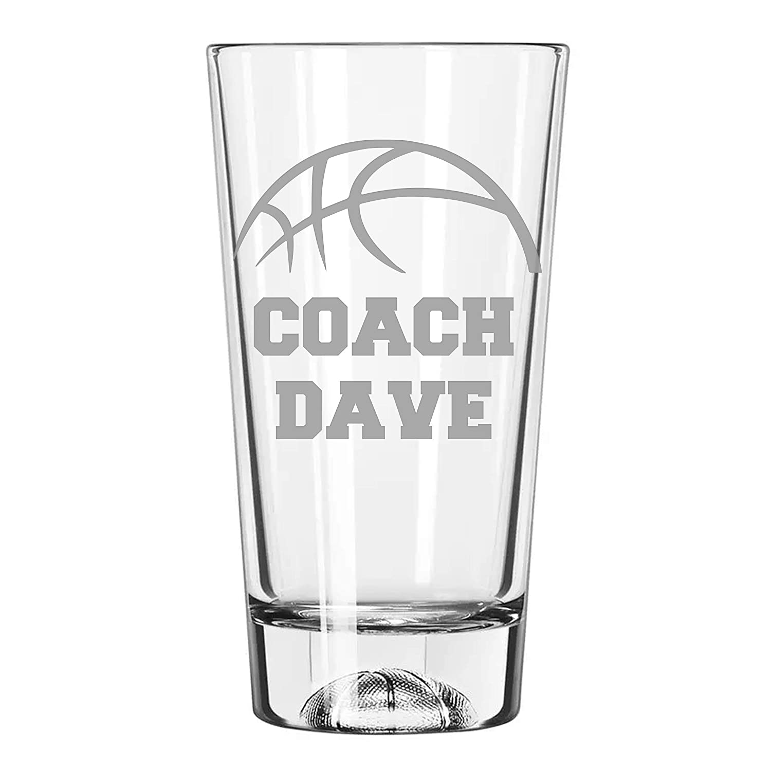 Basketball Coach Indianapolis Mall Personalized Dedication glass Bas