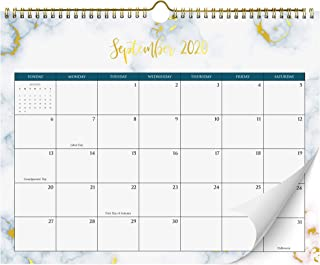 """Beautiful 2020-2021 Marble Wall Calendar with Gold Foil Finish - The Perfect 14.5"""" x 11.5"""" Monthly Calendar for Super Easy Planning from March 2020 - August 2021"""