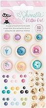 American Crafts Shimelle Glitter Girl 52 Piece Embellishment Pack