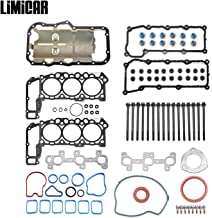 LIMICAR MLS Cylinder Full Head Gasket Set with Head Bolts Compatible with 2002-2005 Jeep Liberty Dodge Ram 1500 2004-2005 Dodge Dakota Durango 2005 Jeep Grand Cherokee 3.7L Vin K