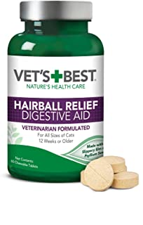 Vet's Best Cat Hairball Relief Digestive Aid| Vet Formulated Hairball Support Remedy | Classic Chicken Flavor