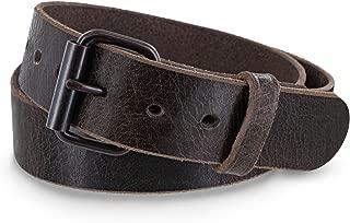 Hanks Rustic - Men's Jean Belt - No Break Thick Leather Belt - USA Made - 100 Year Warranty