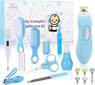 Baby Healthcare and Grooming Kit, with Baby Electric Nail Trimmer Set, Lupantte Nursery Care Kit, Infant Thermometer, Medicine Dispenser, Comb, Brush, Nail Clippers, etc. Baby Essentials for Newborn.