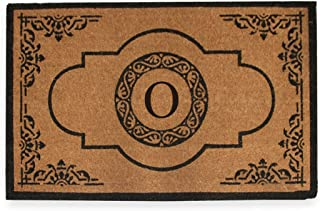"""A1 Home Collections First Impression Hand Crafted Abrilina Entry Coir Monogrammed Double Doormat, 72"""" L x 36"""" W, X-Large"""