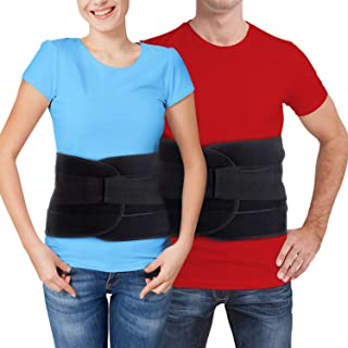 Back Brace for Lower Back Pain – Comfortable Lumbar Support Belt for Weight Lifting and Low Spine Stabilizer for Sciatica Nerve Relief or Scoliosis. Compression for Bulging or Herniated Disc (Large)