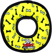 Tuffy Ultimate Rings Ring Dog Toy, Yellow
