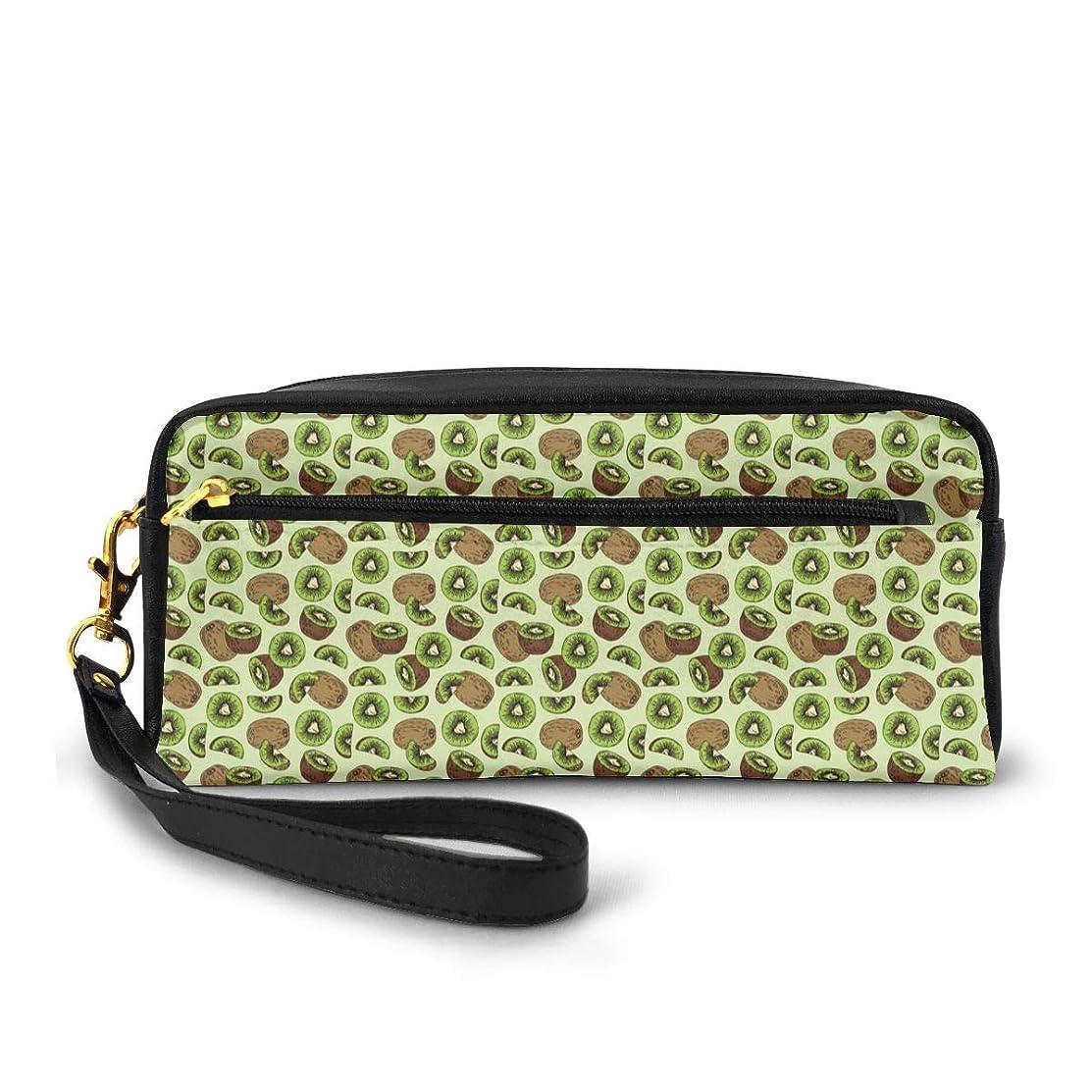 麻痺本質的にやけどキウイフルーツパターン 化粧品収納バッグ ウォッシュバッグ ハンドバッグ 化粧品袋 耐久性のある 筆箱 トラベルバッグ カラフルなス ポータブル スキンケア製品収納袋
