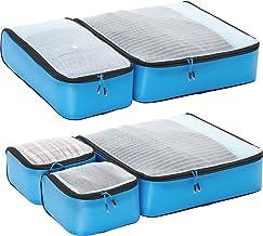 eBags Hyper-Lite Travel Packing Cubes - Lightweight Organizers - Super Packer 5pc Set - (Blue)