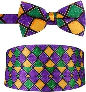 Mardi Gras Bow Tie and Cummerbund Set