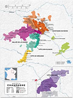 Wine Folly France: Champagne Wine Map Poster Print, 12