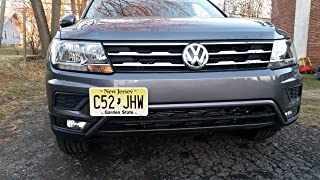 GMG Motorsports NO Holes License Plate Bracket for VW Tiguan 2018- Present (GEN2) No Drill Tow Hook License Plate Mount