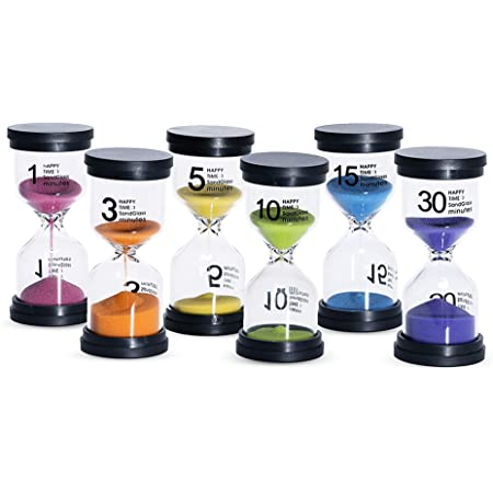 Minutes Home Decoration 1//3//5//10//30 Min Sand Clock Hourglass Timer Glass