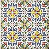In Home NH2365 Azulejos toscanos para despegar y pegar, multicolor, 4 unidades