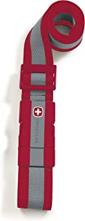 SwissGear Adjustable Luggage Strap with Snap-Lock Buckle - Fits Bags up to 72-Inches One Size Red