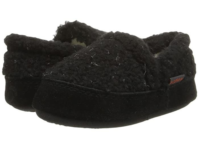 Acorn Kids  Colby Gore Moc (Toddler/Little Kid/Big Kid) (Black Berber) Boys Shoes