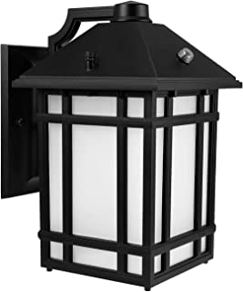 LEONLITE LED Outdoor Wall Lantern with Dusk to Dawn Photocell, 14W (60W Eqv.), Glass Lens, Energy Star & ETL Listed Exterior Wall Mount Lighting Fixture, 3000K Warm White, 1000lm, 5 Years Warranty