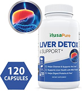 Liver Support & Cleanse 120 Capsules (Vegetarian, Non-GMO & Gluten Free) - All Natural Liver Detox with Milk Thistle, Zinc, Turmeric - Liver Health - Vegan