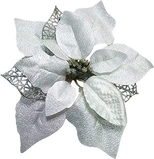 Best white poinsettia christmas ornaments Reviews