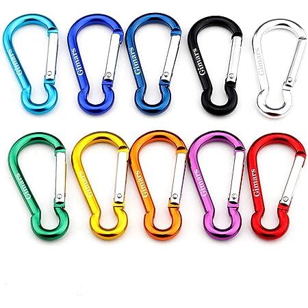 wufeng 5 PCS moschettone in Alluminio D-Ring Clip moschettone Arrampicata Catena Chiave Escursionismo Portachiavi