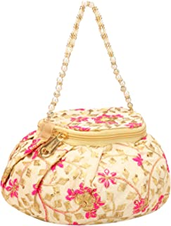An Unique Designer Beautiful Round Shape Attractive Potli Bag For Wedding, Engagement & Any Party Function