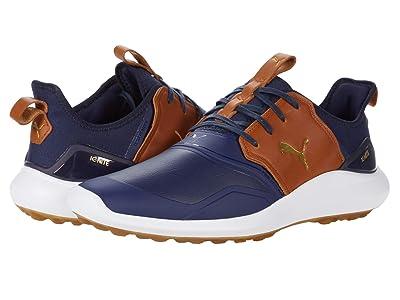 PUMA Golf Ignite Nxt Crafted (Peacoat/Leather Brown/Puma Team Gold) Men
