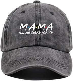 OASCUVER Mama Baseball Caps for Women, Adjustable Vintage Washed Cotton Funny Mom Gift Hats