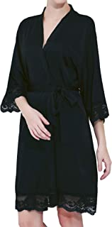 Women's Satin Lace Bride & Bridesmaid Robes for Bridal Party