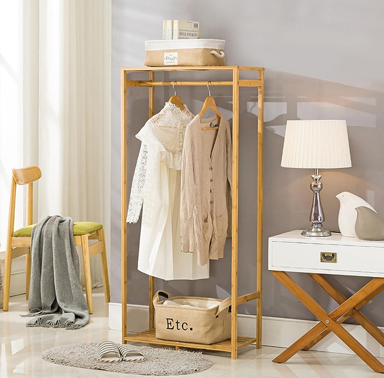 Coat Rack Floor Bedroom Drying Racks Bamboo Simple Solid Wood Living Room Clothes Rack Hangers