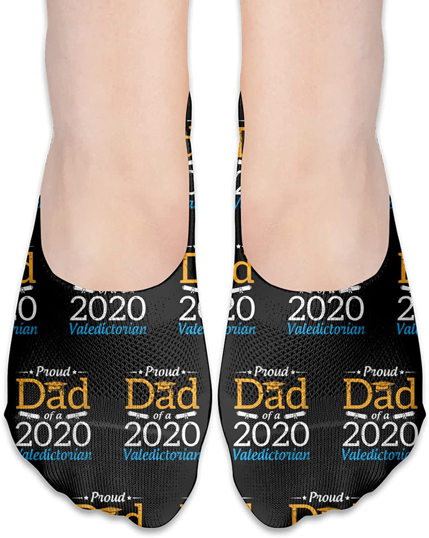 Proud Dad Of A 2020 Valedictorian Happy Class Of School No Show Socks Adult Short Socks Athletic Casual Crew Socks