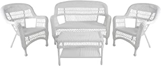 Northlight 4 Piece White Steel Resin Wicker Outdoor Patio Furniture Set 51