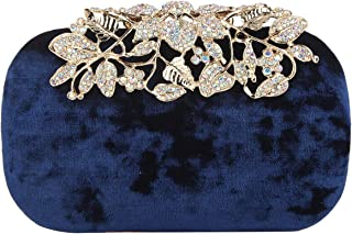Fawziya Crystal Flower Velvet Evening Bags And Clutches For Women Clutch Purse