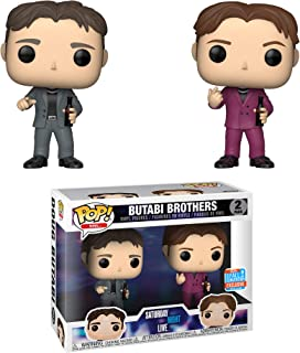 Funko Butabi Brothers (2018 Fall Con Exclusive): Saturday Night Live x POP! SNL Vinyl Figure + 1 American TV Themed Trading Card Bundle [32723]