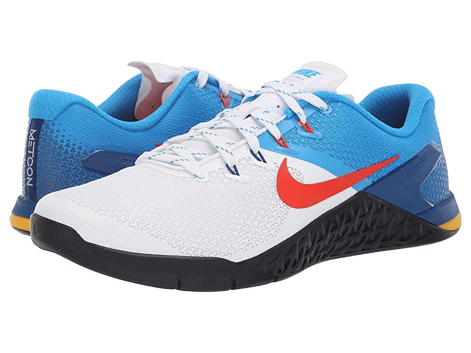 Nike Metcon 4 (White/Team Orange/Blue Hero/Gym Red) Men