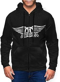 Aerosmith Mans Hoodie Hooded Sweatshirt Pullover Long Sleeve Zip Up Hoody Black