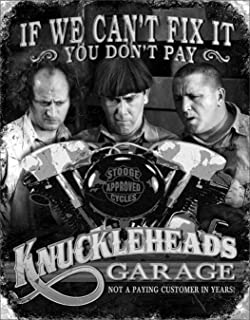 Desperate Enterprises The Three Stooges - Knuckleheads Garage Tin Sign, 12.5