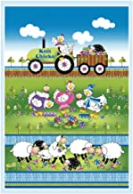Henry Glass & Co. Henry Glass Knit Chicks 30'' Chicken and Sheep Panel Fabric, Multi