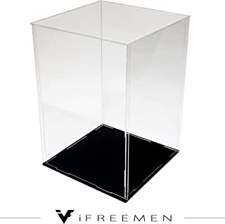 iFREEMEN 【 アクリル 】 コレクションケース フィギュアケース ディスプレイケース (20x20x25cm, 台座黒)