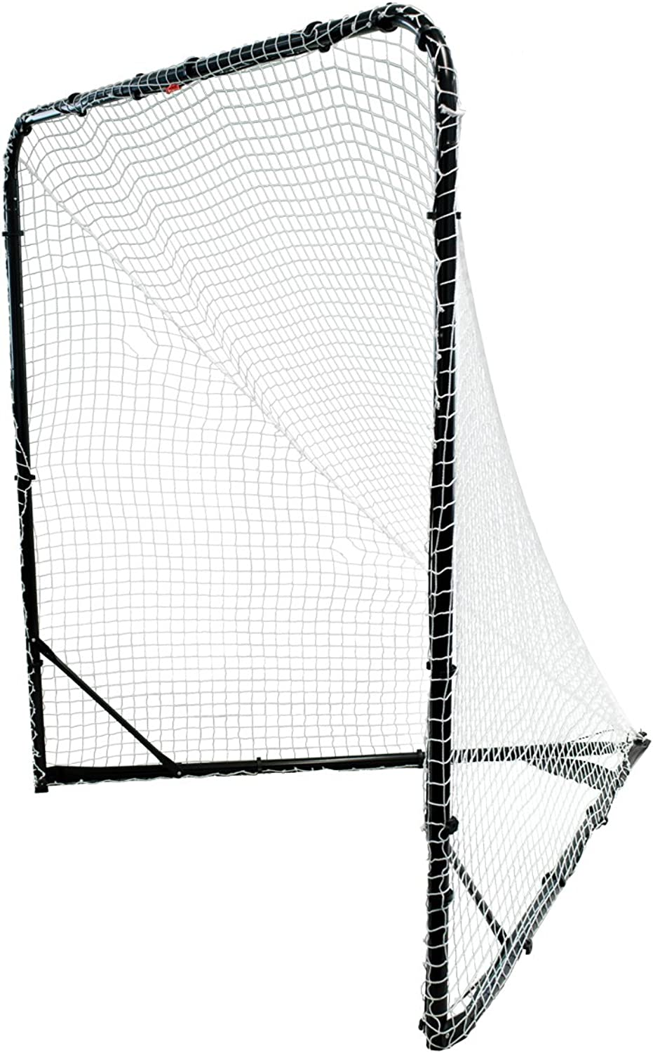 Park & Sun Sports Steel Frame Lacrosse Goal with Nylon Bungee Slip Net and Carrying Bag, 6' W x 6' H x 7' D