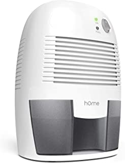 hOmeLabs Small Space Dehumidifier with Auto Shut-Off - Quietly Extracts Moisture to Reduce Odor and Allergies from Mold and Mildew - Compact and Portable, Ideal for Bedrooms, Bathrooms and Closets
