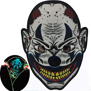 ShineWorld Music LED Halloween Mask Sound Activated Light Up Mask LED Mask Light Mask for Dancing,Party and Any Festival