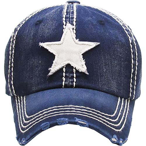 0b0fc55c190 Funky Junque Womens Baseball Cap Distressed Vintage Unconstructed  Embroidered Dad Hat