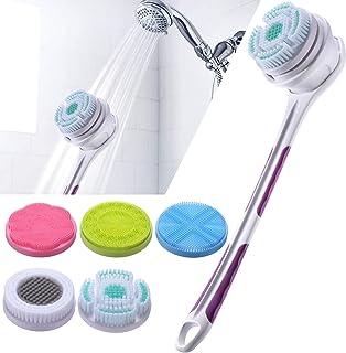 SoulBay Borstel voor het lichaam van de douche met lange handgreep, elektrische gezichtsborstel, peeling, massagelichaam, ...