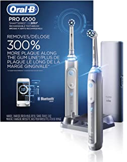 Oral-B Pro 6000 Smart Series Power Rechargeable Electric Toothbrush, White